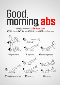 Good Morning Abs workout.