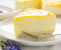 """Luscious Lemon Cheesecake, made with Daisy Sour Cream, is perfect for the holidays! """"Sponsored by Daisy Sour Cream."""" #DollopOfDaisy #ad"""