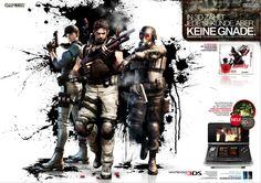 Doppelseitige Anzeige zu Resident Evil – The Mercenaries