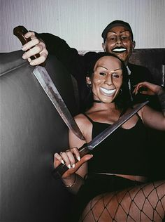 The purge couples costume for Halloween 👻 Halloween Outfits For Women, Matching Halloween Costumes, Scary Halloween Costumes, Couple Halloween, Halloween Party Decor, Halloween 2018, Diy Halloween, Halloween Makeup, Scary Couples Costumes