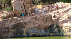 Cliff Jumpers at the Devil's Waterhole, Inks Lake State Park - Burnet, TX