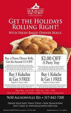 Just 9 more days to cash in on these coupons from the Kolache Factory & My Neighborhood Source. Print & Save!
