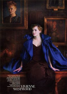 "The Look: Hogwarts - Emma Watson in ""The Magic of Fashion"" for Harper's Bazaar UK by photographer Simon Procter"