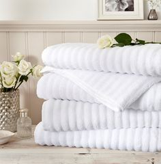 The Softest, most sumptuous and incredibly absorbant towels in our collection. This Zero Twist cotton Ribbed towelling has to be touched to be believed. Available in white only. King of Cotton. The world's softest towels. Soft Towels, White Towels, Bath Towels, Egyptian Cotton Towels, Percale De Coton, Cotton Gifts, Bath Or Shower, Luxury Towels, Crafts For Boys