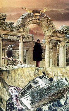 the gatekeeper - collage art by livingferal