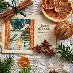 Star anise, cinnamon sticks, dried orange and a hint of foliage make ideal Christmas props for festive flatlays