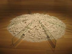"""Robert Smithson's """"Chalk-Mirror Displacement"""""""