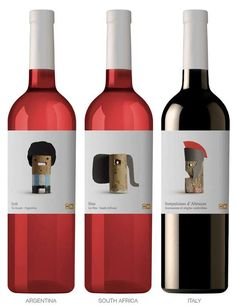 Personified Cork Branding - The Delhaize Wine Labels Are Adorned with Clever Stopper Manipulations (GALLERY)