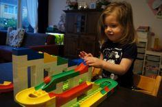 Hubelino knikkerbaan, compatibel met lego duplo