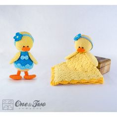 Duck Lovey and Amigurumi Crochet Patterns Pack by One and Two Company