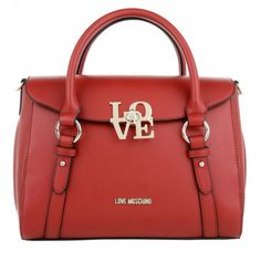 Love Moschino Tasche – Love Satchel Straps PU Rosso – in rot – Henkeltasche für Damen