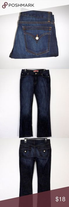 """Gap Curvy Boot Cut Jeans Size 8 Reg Gap Curvy Boot Cut Flap Pocket Distressed Wash Jeans Size 8 Reg  5 Pockets Button with Zipper Closure  99% Cotton 1% Spandex   In Excellent Pre-Owned Condition and Shows Normal Signs Of Wear With No Stains Or Holes.   All Measurements Posted Below are Aprox. & Taken While Laying Flat  Waist: 16""""(32) Rise: 9"""" Inseam: 32"""" Please Ask Any Questions You may Have Before Purchasing.  Smoke & Pet Free Home  Please Check Out My Other Items  Inv#118 GAP Jeans Boot…"""