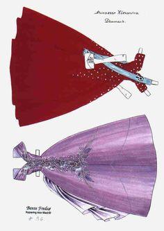 Bente Fredso paper doll of Princess Alexandra of Denmark 2