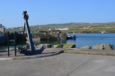 Harbor at Port Magee Co Kerry Ireland Iveraugh Peninsula with Valentia Island in distance