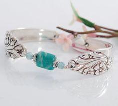 Vintage Spoon Bracelet  Evening Star Spoon Bracelet  by mcfmiller, $36.00