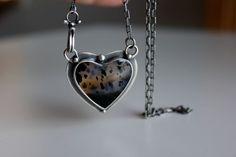 Love of Birds, Refuge Pendant......silver, Montana Agate heart pendant Gallery Darrow