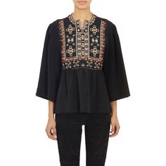 Isabel Marant Embroidered Roma Blouse ($1,085) ❤ liked on Polyvore