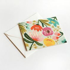 I think we should get back to the habit of snail mail. These Floral Thank You Cards would help.