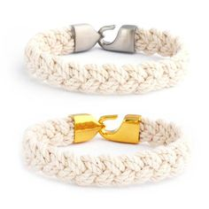 GREAT GIFT FOR HER. The Turks Head bracelet was our summer staple growing up on New England waters.  Our version is slimmer and more subtle - but equally classic. With our signature 316L stainless steel hook clasp, you can put this on - and take it off when you have to. 100% cotton and handcrafted in the Ocean State.