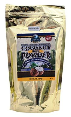 Wilderness Family Naturals, Conventional Coconut Milk Powder, 1 Pound - It Tastes Great! *** You can get additional details at the image link. Coconut Milk Powder, Dry Coconut, Coconut Cream, Coconut Water, Coconut Drinks, Unsweetened Coconut Milk, Dairy Free Milk, Milk Protein, Evaporated Milk