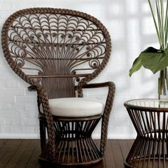 73 best Peacock Chairs images on Pinterest in 2018   Wicker  Wicker     Peacock Chair This gorgeous and very unique Peacock Chair will make a real  statement in any room  Made from high quality rattan and bamboo and in a  stunning