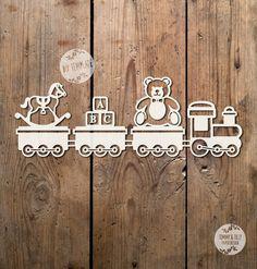 50% SALE Toy Train SVG PDF Design by TommyandTillyDesign on Etsy