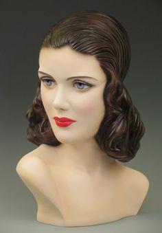 40s Vintage Style Mannequin Head / Bust Display by Decoeyes #Decoeyes