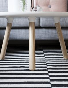 This table, rug and the color of the sofa!