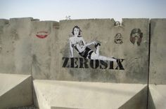 In Afghanistan at night, armed with salvaged paint from tank maintenance crews, street art is made by occupying soldiers.