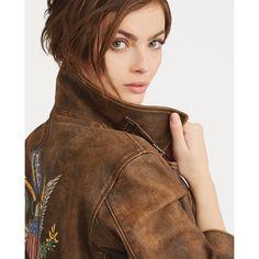 Soldes Veste Femme Ralph Lauren, achat Veste en cuir vieilli Polo Ralph  Lauren prix Soldes 5a9c5c684924
