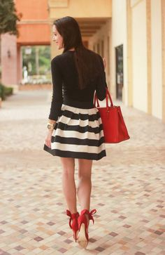 Black, white, and red accessories for the holidays. Classic.