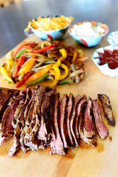 Beef Fajitas  I have used New Joisey venison with this marinade and it was delicious.