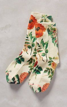 Gardener Ankle Socks #anthrofave really lovely to pop some color into your mix as we move into Spring time.
