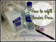 Refill for SU Blender Pens 1 teaspoon glycerin 2 teaspoons distilled water teaspoon rubbing Alcohol Mix all 3 in small jar place blender tips in jar & soak for 3 or more hours repeat for the other end. - Blender - Ideas of Blender Card Making Tips, Card Making Techniques, Making Ideas, Stamping Tools, Stamping Up, Post It Note Holders, Blender Pen, Pen Refills, Stamp Pad
