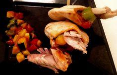 Deliciosa y facil #receta: Brocheta de mini pitas de pisto y caballa