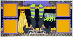 Scrapbook Page Kit Halloween Wicked Cute Witch by PageKitEmporium