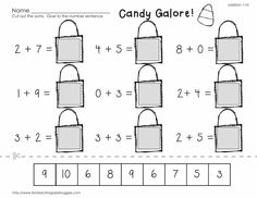 Cut, Do & Glue- Halloween Math