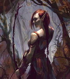 Elven Huntress/Ranger by Takeda11.deviantart.com on @DeviantArt