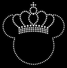 Minnie Mickey Mouse with Crown Rhinestone Transfer DIY Disney Handmade Bling. $7.50, via Etsy.