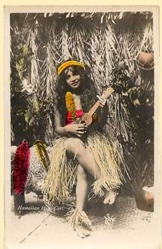 Hawaii hula dancer, Hawaii, 1916