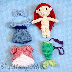 This digital download crochet pattern will produce an Amigurumi Princess Ariel plush doll inspired by Disney's The Little Merm