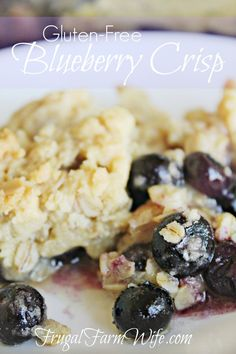 ... gluten-free blueberry crisp is absolutely amazing! And so easy to make