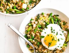 Pea Recipes, Lunch Recipes, Rice Recipes, Veggie Recipes, Delicious Recipes, Yummy Food, Healthy Recipes, Japanese Cucumber Salad, Cooking White Rice