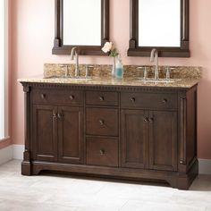 "60"" Claudia Double Vanity for Undermount Sinks - Antique Coffee"