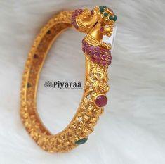 Gold Temple Jewellery, Gold Jewelry, Diamond Jewelry, Jewelery, Jewelry Bracelets, Gold Bangles Design, Gold Jewellery Design, Antique Jewellery, 24k Gold Chain