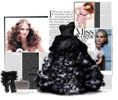 Formal black dress with full skirt