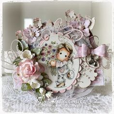 Yuri's Magnolia Blog: For You Tilda - DT card for The Ribbon Girl