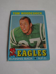 Tom Woodeshick #40 1971 Topps Football Card Eagles Running Back A.F.C.  #Eagles