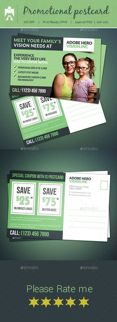 Buy Coupon Postcard & Direct Mail EDDM by adobehero on GraphicRiver. Product Promotional Postcard Description: This coupon postcard templates is designed in 2 different sizes, Standard &. Mail Marketing, Sales And Marketing, Marketing Ideas, Digital Marketing, Postcard Template, Postcard Design, Brochure Layout, Brochure Design, Welcome New Neighbors
