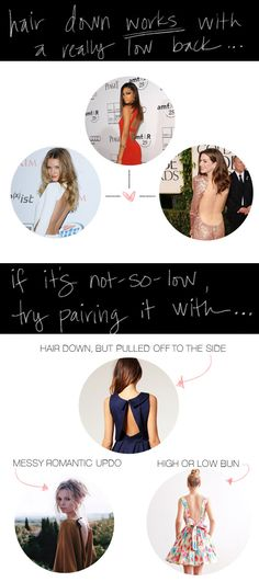 How to wear your hair with a backless dress